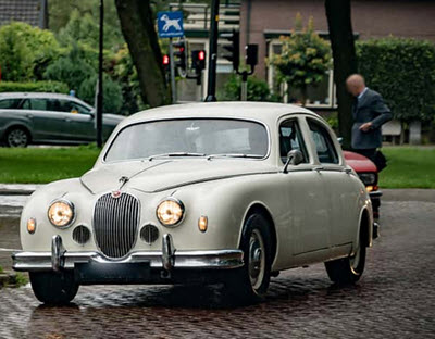white Jaguar Mark 1